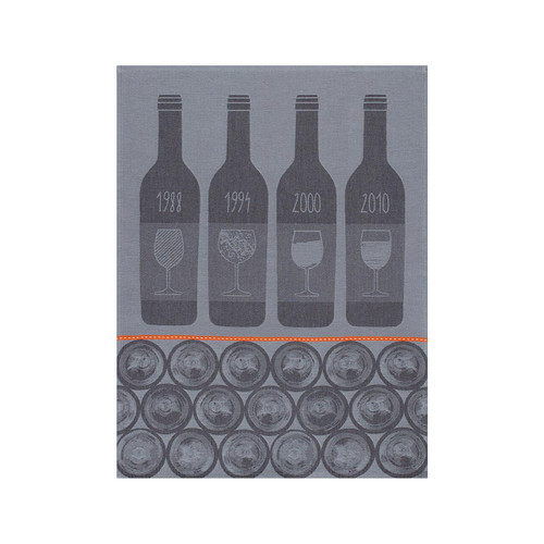 Le Jacquard Francais Bar A Vins Zinc Tea Towel 28 x 20 Set of 4