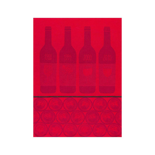 Le Jacquard Francais Bar A Vins Tannin Tea Towel 28 x 20 Set of 4