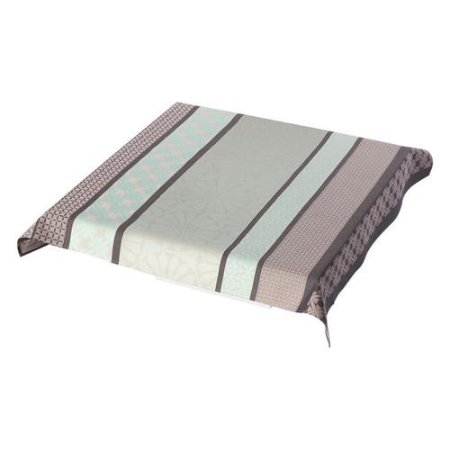 Le Jacquard Francais Bilbao Enduit Ash Grey Tablecloth 55 x 102