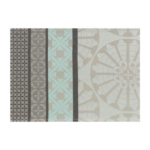 Le Jacquard Francais Bilbao Enduit Ash Grey Placemat 19 x 14 Set of 4