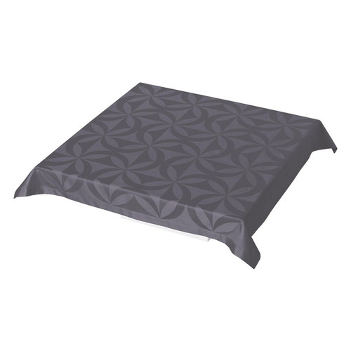 Le Jacquard Francais Ellipse Enduite Storm Tablecloth 55 x 89