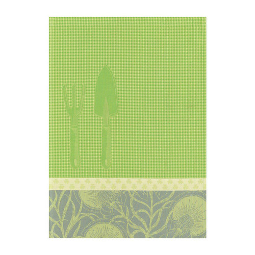 Le Jacquard Francais Hand Towel Jardinage Shoot Green 21 X15 Pure Cotton