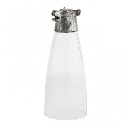 Animale Bear Pilsner Glass by Arte Italica Pewter