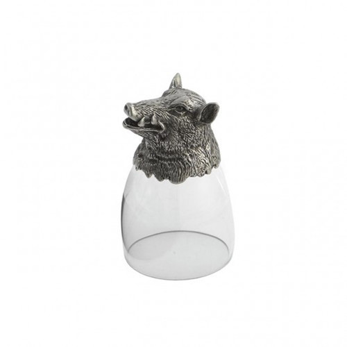 Animale Boar Liqueur Glass by Arte Italica Pewter