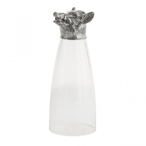 Animale Boar Pilsner Glass by Arte Italica Pewter