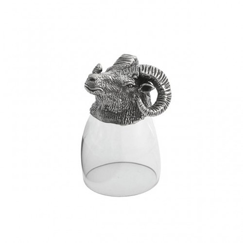 Animale Ram Liqueur Glass by Arte Italica Pewter