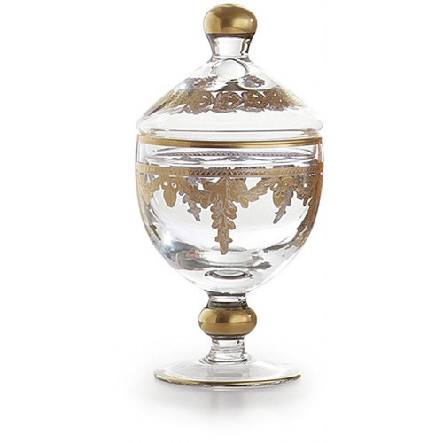 Baroque Gold Canister with Lid by Arte Italica Pewter