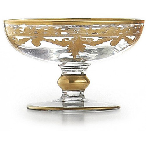 Baroque Gold Compote Soap Dish by Arte Italica Pewter