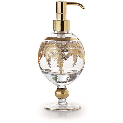 Baroque Gold Soap Pump by Arte Italica Pewter