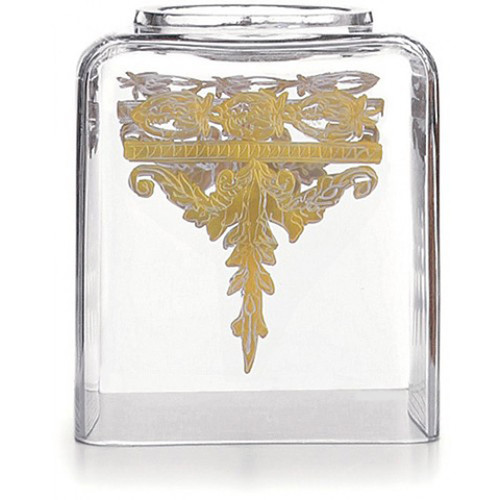 Baroque Gold Tissue Box Holder by Arte Italica Pewter