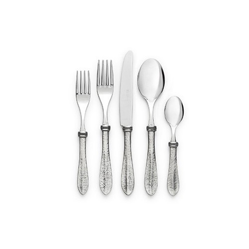 Bella Bianca 5-piece Place Setting by Arte Italica Pewter