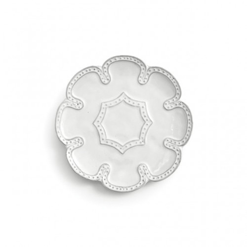 Bella Bianca Beaded Canape Plate by Arte Italica Pewter