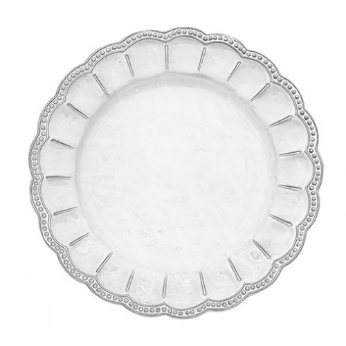 Bella Bianca Beaded Charger by Arte Italica Pewter