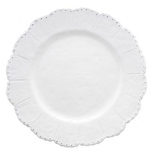 Bella Bianca Beaded Dinner Plate by Arte Italica Pewter