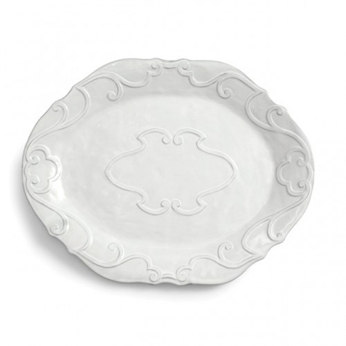 Bella Bianca Large Oval Platter by Arte Italica Pewter