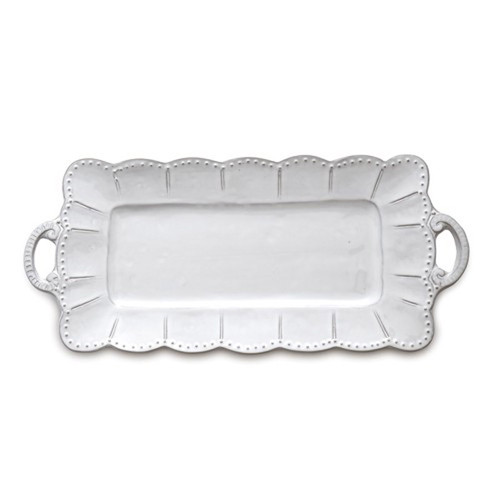 Bella Bianca Rectangular Tray by Arte Italica Pewter