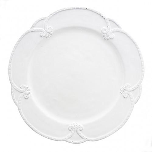 Arte Italica Bella Bianca Rosette Dinner Plate BBS1004