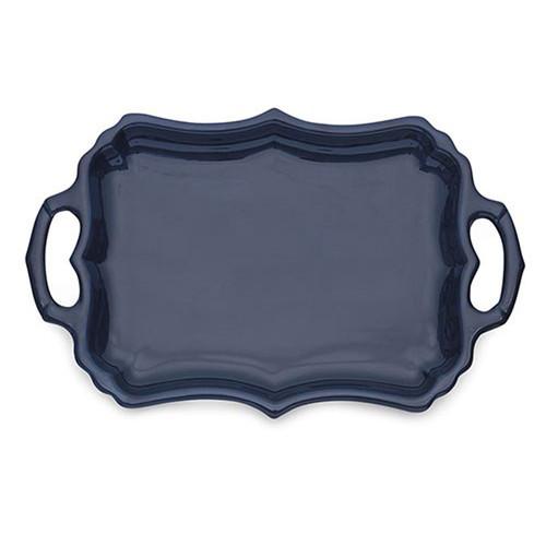 Arte Italica Burano Blue Tray with Handles BUR6836