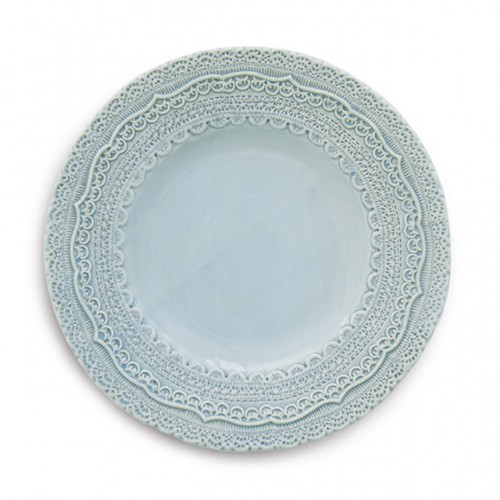 Finezza Blue Salad Dessert Plate by Arte Italica Pewter