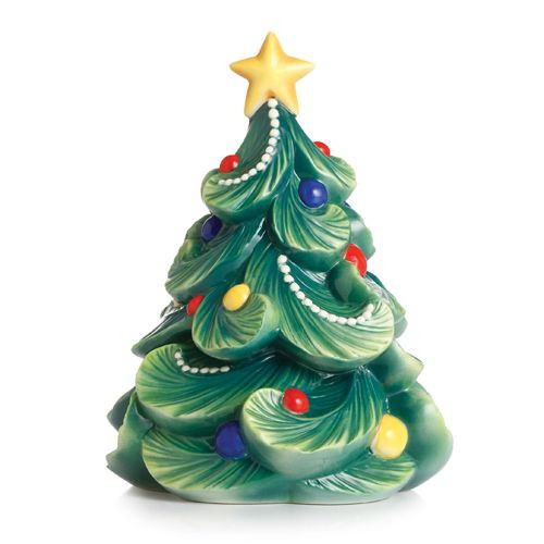 Franz Porcelain Holiday Greetings Christmas Tree Figurine FZ02468
