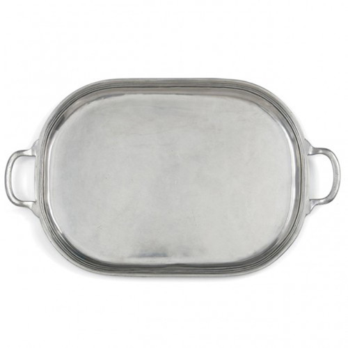 Peltro Large Oval Tray by Arte Italica Pewter