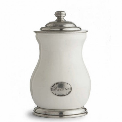 Tuscan Farina Canister by Arte Italica Pewter