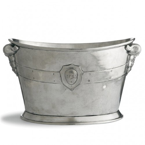 Vintage Wine Bucket by Arte Italica Pewter