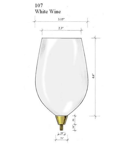 Edgar Berebi Gold White Wine Top Bowl Glass