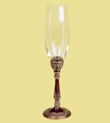 Edgar Berebi Milan Water Wine Champagne Stem Gold Plate Garnet