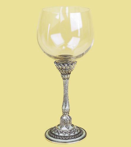 Edgar Berebi Devonshire Pearl Silver Plate Water Wine Champagne Stem