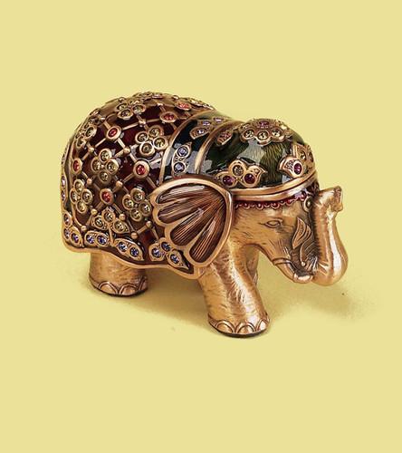 Edgar Berebi Multi-Color Mini Maharajara Gold Plate Box