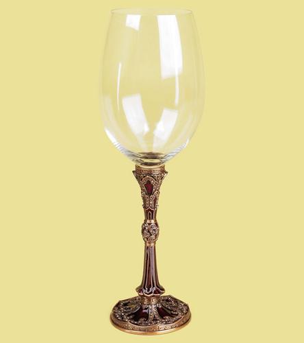 Edgar Berebi City Of X'Ian Wine Water Champagne Gold Plate Stem Glass