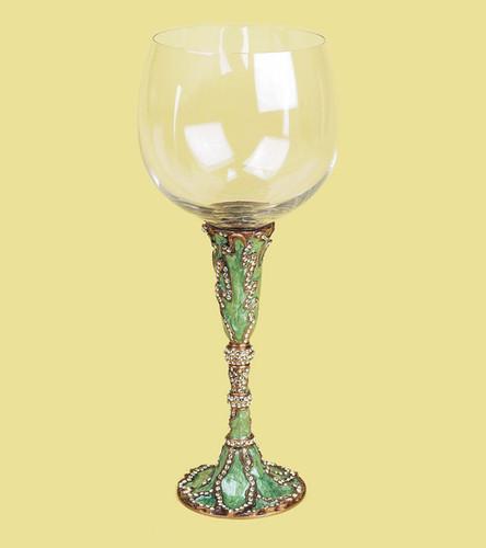 Edgar Berebi Geneva Celadon Jonquil Gold Plate Water Wine Champagne Stem
