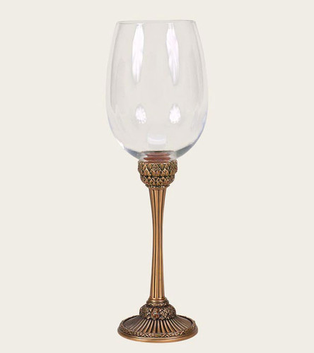 Edgar Berebi Dresden Copper Gold Plate Water Wine Champagne Stem