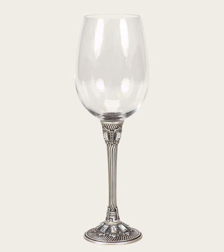 Edgar Berebi Florence Tanzinite Matte Silver Plate Water Wine Champagne Stem