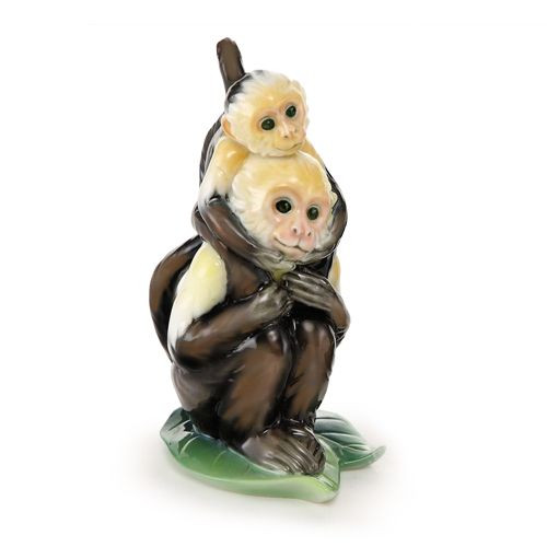 Franz Porcelain Jungle Fun Monkey Figurine Father & Son FZ02013A