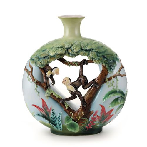 Franz Porcelain Jungle Fun Monkey Large Vase FZ02007