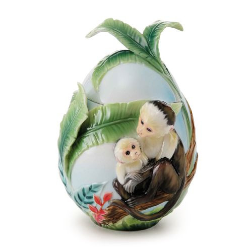 Franz Porcelain Jungle Fun Monkey Sugar Jar FZ02005