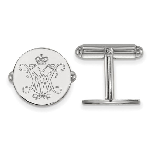 William And Mary Cuff Link Sterling Silver SS002WMA