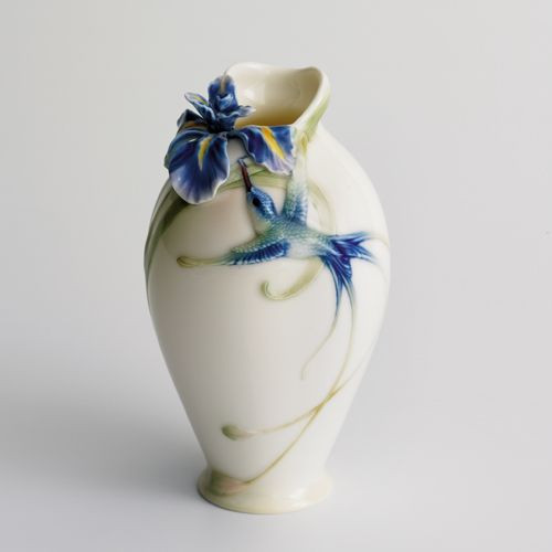 Franz Porcelain Long Tail Hummingbird Small Vase FZ00246