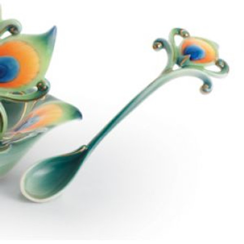 Franz Porcelain Peacock Splendor Spoon FZ01206