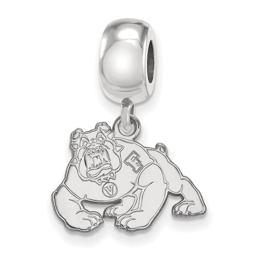 California State University, Fresno Bead Charm Small Dangle Sterling Silver SS009CSF