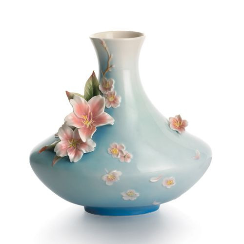 Franz Porcelain Sakura Flower Vase FZ01519