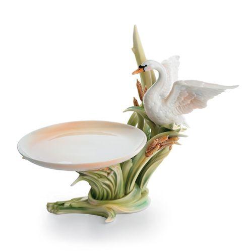 Franz Porcelain Swan Lake Candy Dish FZ01572