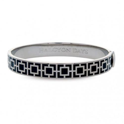 Halcyon Days 10Mm Mosaic Bangle Bracelet Black Palladium