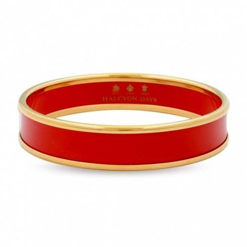 Halcyon Days 1Cm Deep Red Gold Bangle Bracelet Small