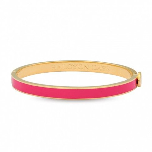 Halcyon Days 6Mm Skinny Plain Bangle Bracelet Hot Pink Gold