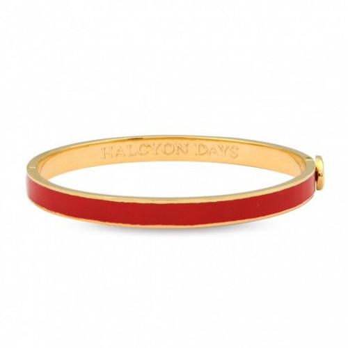 Halcyon Days 6Mm Skinny Plain Bangle Bracelet Red Gold