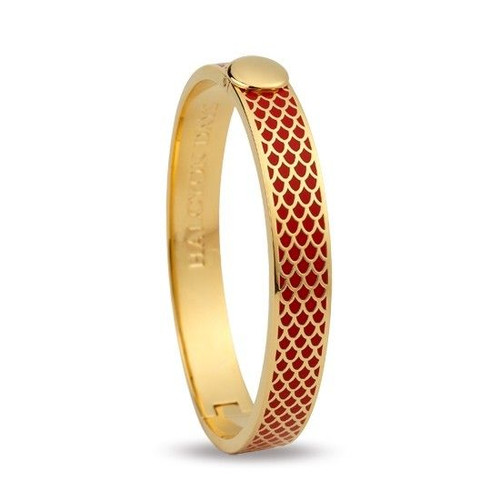 Halcyon Days Bangle 1Cm Salamander Red & Gold