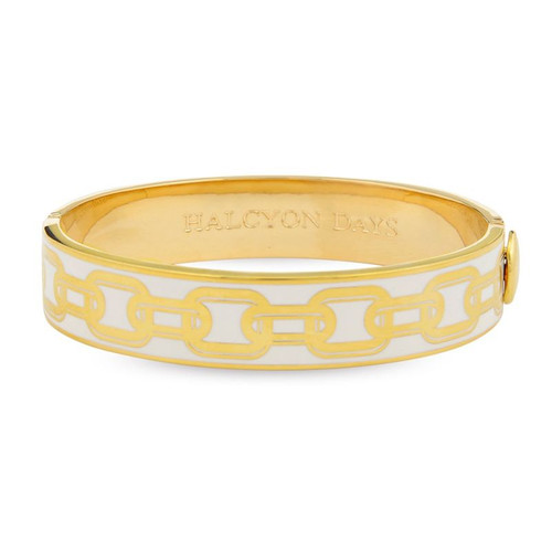Halcyon Days D.H 13Mm Bangle Chain Cream Gold